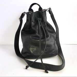 Vintage Distressed Leather Convertible Backpack